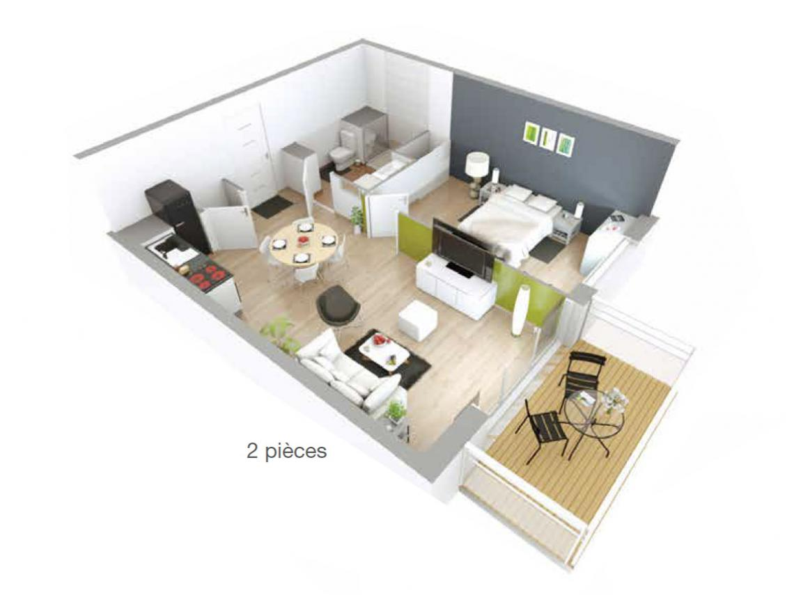 : exemple d'appartement type T2
