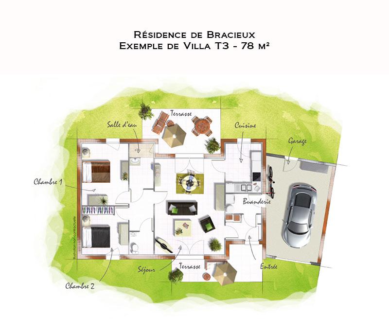 investir dans une maison t3 en r sidence services seniors bracieux dans le loir et cher. Black Bedroom Furniture Sets. Home Design Ideas