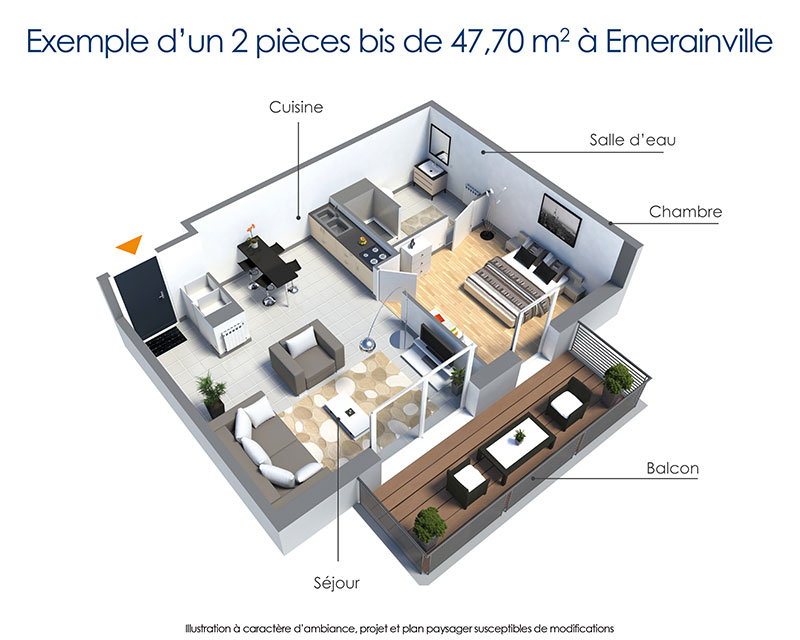 emerainville 20 km de paris t2 meubl louer en r sidence avec services pour seniors. Black Bedroom Furniture Sets. Home Design Ideas
